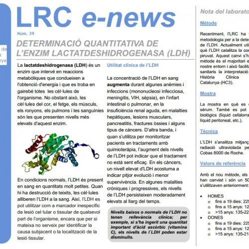 Determinació quantitativa de l'enzim LDH